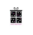 happy birthday pink vector image
