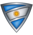 steel shield with flag argentina vector image