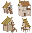 Set of cute houses for you design vector image