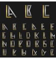 Letter L with alphabet vector image