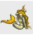 Mermaid image with golden hair and tail vector image