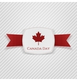 Canada Day festive Tag with Ribbon vector image