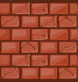 cartoon red stone wall texture vector image