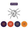 color spider icon vector image