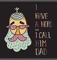 hero dad four vector image