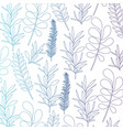 pattern leaves of plants on gradient color vector image
