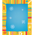 Template with frame and snow for christmas of vector image