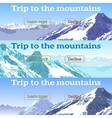 web banners set on the theme of mountains vector image