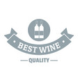 wine bar logo simple gray style vector image