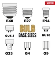 Technical draw of bulb vector image