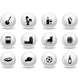 Web buttons portuguese icons vector image vector image