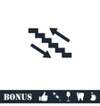 Stairs icon flat vector image