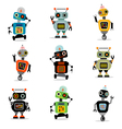 cute robots set 3 vector image