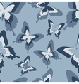 Seamless pattern with grey butterfly