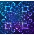 Blue shining cosmic flower seamless pattern tile vector image