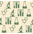 seamless background with laboratory equipment vector image