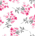 Floral pattern with pink flowers vector image
