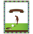 Blank Golf Flyer vector image vector image