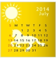 calendar 2014 july vector image