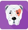 Central Asian Shepherd Dog icon flat design vector image