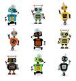 cute robots set 3 vector image