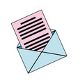 email envelope message communication web icon vector image