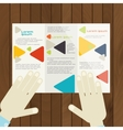 Flat Design Brochure Template vector image