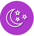 moon and stars in circle line icon vector image