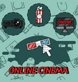 online cinema flat concept icons vector image