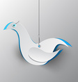 Paper Cut Dove Bird vector image