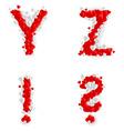 Romantic font vector image