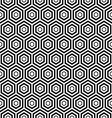 seamless black Hexagon pattern background vector image
