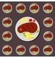Steak icon vector image
