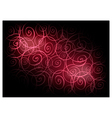 Red Vintage Wallpaper with Spiral Pattern vector image vector image