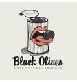 black olives vector image