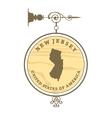 Vintage label New Jersey vector image