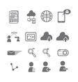 Social media icons eps vector image