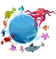 sea life card vector image