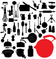 traditional kitchen tools vector image vector image