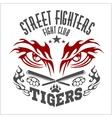 Fighting club emblem - tiger Eye Labels badges vector image