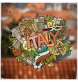 Italy country hand lettering and doodles elements vector image