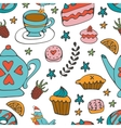 Colorful desserts seamless pattern vector image vector image
