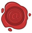 wax seal email sign isolated vector image
