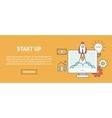 Business start up concept banner vector image