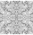 Seamless background textile with floral shapes vector image