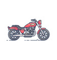 cool biker motorcycle vector image
