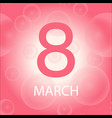 happy womens day celebration greeting card color vector image