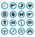 Human organs and parts icon set vector image