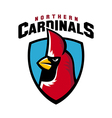 Northern cardinal sport logo angry bird mascot vector image