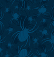 Seamless spider pattern two vector image